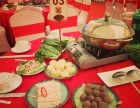 工厂企业年会尾牙宴 中式围餐 大盆菜 自助餐 火锅