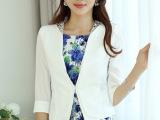 2013韩版外搭OL修身V领一粒扣小西装气质百搭短外套女