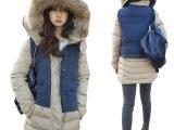 新冬装韩国东大门大毛领连帽羽绒服女中长款加厚保暖修身外套女