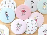 韩国LIVEWORK甜美可爱小镜子/化妆镜/随身镜 店铺赠品拍下