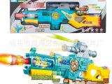 超级战舰 电动多功能带红外线玩具枪 声光 投影功能儿童玩具枪