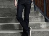 男裤批发黑色裤子 GXG同款男装春秋绅士修身男士休闲裤长裤品牌