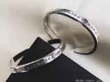 CH克罗心925纯银复刻权志龙同款开口手环