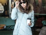 热卖2014新款韩版女装夹棉加厚中长款棉衣棉服棉袄外套 冬 女