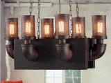 LOFT复古水管吊灯 美式乡村工业餐厅酒吧吧台灯 现代创意客厅灯