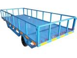3吨护栏型平板拖车全挂式