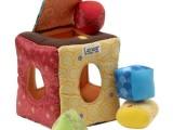Lamaze拉玛泽布质积木盒 启蒙益智认识形状颜色0-1岁婴儿早
