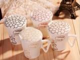 高品质喵喵爱鱼骨杯 骨瓷环保杯子 带盖马克杯 牛奶杯 变色杯混批
