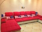 很新的7字型布艺沙发送茶几
