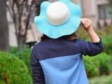 帽胚女士夏天韩版遮阳帽太阳帽沙滩帽大沿防晒帽防紫外线草帽