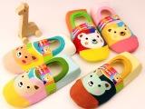 新款纯棉薄款透气儿童隐形袜船袜 点胶宝宝防滑地板袜 卡通宝宝袜