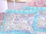 厂家直销 全棉韩版枕套 可爱花边枕套 床上用品批发 特价枕套
