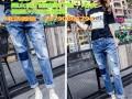 广东哪里有批发牛仔韩版女长裤厂家直销低价处理4元地滩牛仔裤