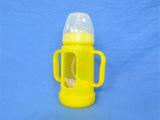 防胀气防摔防爆宽口玻璃带柄吸管婴儿奶瓶  母乳实感硅胶奶嘴