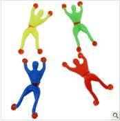 爬墙人蜘蛛人 蜘蛛侠 翻跟斗小人 粘性爬墙人 儿童玩具批发 005