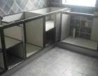 铝合金陶瓷柜体+石英石台面+钢化晶钢门+实木吊柜