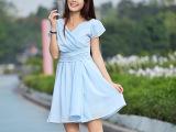 2013春夏季装新品复古 修身雪纺中裙 连衣裙子(实拍) 一件起