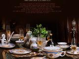 景德镇陶瓷餐具套装56头骨瓷餐具瓷器碗碟套装餐具送礼品可印LoG