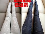 加绒加厚韩版女蕾丝外穿打底长裤大码显瘦高腰弹力小脚裤厂家直销