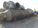 供应二手三效降膜蒸发器设备附件齐全材质进口耐腐316L