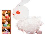 DIY传统兔子灯手工材料包 马年中秋节半成品灯笼亲子作业拖拉玩具