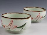 手绘茶具茶杯品杯五彩主人杯纯手绘厂家直销多款可选陶瓷杯子批发