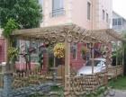 花园别墅防腐木车库遮阴挡雨葡萄架花架藤架木花槽花车