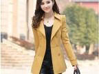 2014新款秋装 韩版修身双排扣风衣女装外套批发