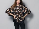 欧美高端新款女上衣 桑蚕丝拼进口流苏廓形 大码蝙蝠衫