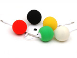 苹果手机迷你音响 球形海绵小音响 波波球音箱 手机小音箱3.5接