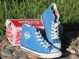新款VANSVIM内增高小布鞋时尚帆布鞋 高帮纯色学生鞋牛筋底舒