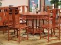 缅甸花梨木圆形餐桌价格及图片