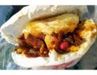 网红小吃加盟 鸭蛋黄夹馍臭豆腐夹馍做法培训