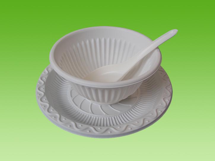 价格公道的淀粉餐具就在许昌绿盾|中国淀粉餐具批发