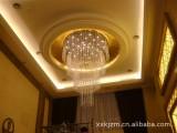 水晶工程灯批发奢华水晶灯酒店大堂灯具圆形吸顶工程灯 工程灯
