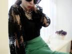 2014春季新款 绣花蕾丝上衣+小吊带+半身包裙三件套装3073