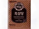 韩国原装进口调味品 希杰 白雪牌红糖 百雪黑糖 1kg*20包/