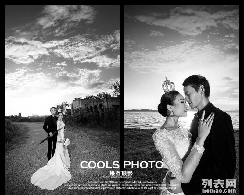 武汉另类婚纱摄影黑白风格 果石摄影 哥特式高