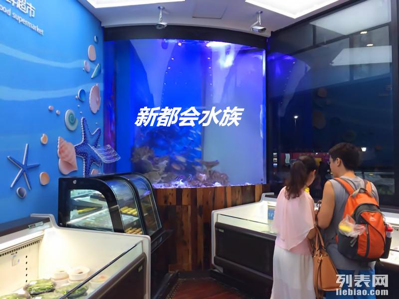 广州定做鱼缸定制海鲜池订做大型亚克力工程鱼缸定做水族箱