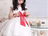 女童演出服少儿舞蹈表演服白色礼服蓬蓬纱裙儿童连衣裙女童公主裙