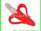 百分百环保婴儿硅胶磨牙棒牙刷 超柔软