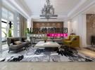 山水装饰作品绿城玫瑰园160平四房欧式风格装修