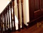 别墅弧形实木楼梯 品家制作楼梯产品样式 实木弧形高档楼梯木门