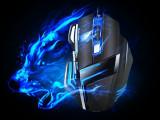 正品冰兽T10 鬼鲛游戏鼠标 呼吸灯USB有线CF/LOL鼠标6