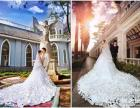 拖尾500,婚纱200,礼服150起租 500元婚纱礼服套餐