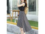 2015夏装新品 四季青女装 时尚波西米亚无袖长裙 韩美纤衣