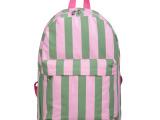 厂家直销 安娜baby背包 学生 男书包女双肩包 条纹帆布包包