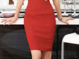夏季新款韩版女士高腰半身裙一步裙定做 职业装西群订做