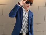 2014新款男士休闲西服修身男装小西装男韩版潮青少年英伦薄款外套
