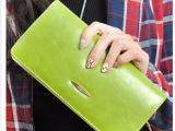新款女式钱包 韩版油皮长款女式手拿包手提包 T-7707休闲女包